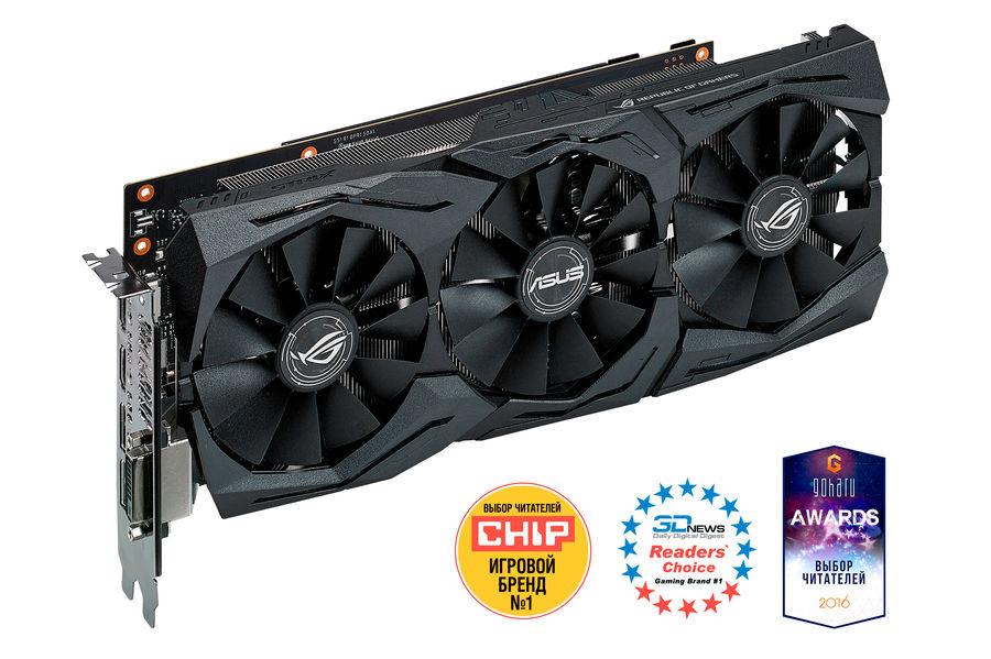 Видеокарта ASUS GeForce GTX 1060,  STRIX-GTX1060-6G-GAMING,  6Гб, GDDR5, OC,  Ret