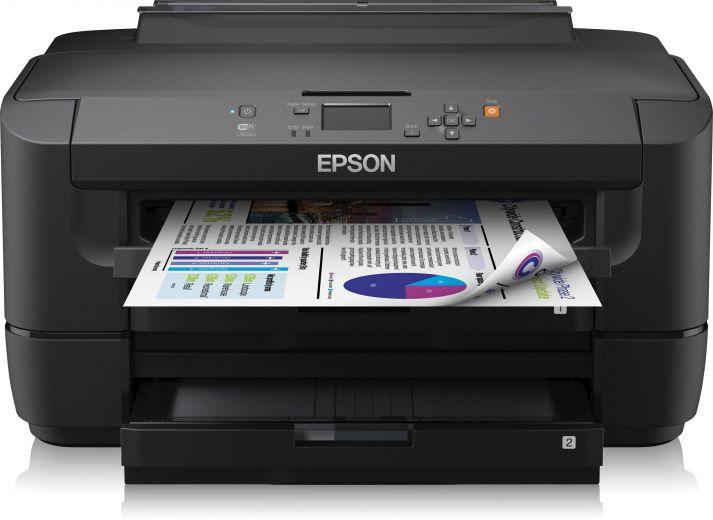 Принтер EPSON WorkForce WF-7110DTW,  струйный, цвет: черный [c11cc99302]
