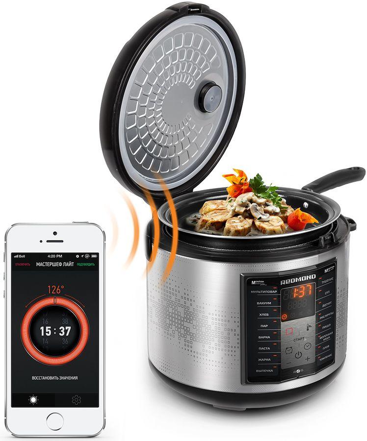 Мультиварка REDMOND RMK-FM41S,  700Вт,   серебристый/черный