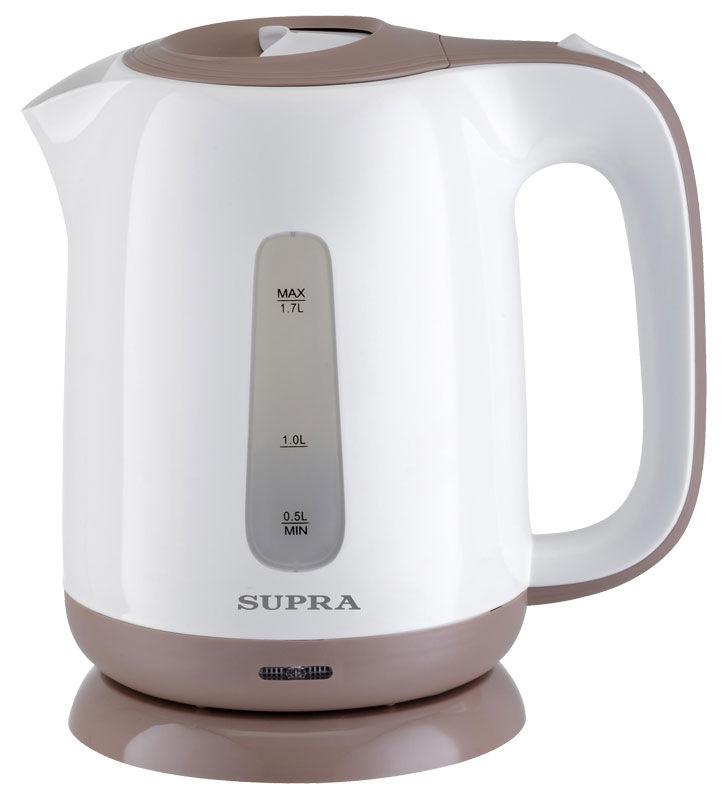 Чайник электрический SUPRA KES-1724, 2200Вт, белый и бежевый