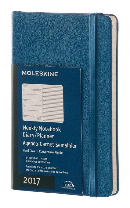 Еженедельник MOLESKINE CLASSIC WKNT POCKET,  144стр.,  синий стальной