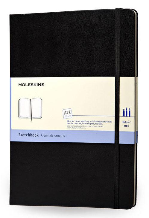 Блокнот для рисования Moleskine CLASSIC SKETCHBOOK 130х210мм 104стр. фиксирующая резинка черный [artqp063]