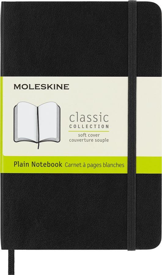 Блокнот Moleskine CLASSIC SOFT Pocket 90x140мм 192стр. нелинованный мягкая обложка фиксирующая резин [qp613]