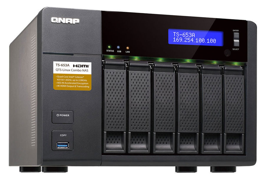 Сетевое хранилище QNAP TS-653A-4G,  без дисков