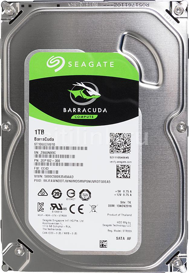 Жесткий диск SEAGATE Barracuda ST1000DM010 купить по цене 2830 рублей в интернет-магазине СИТИЛИНК