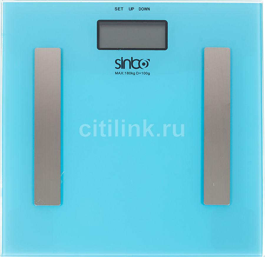 Напольные весы SINBO SBS 4439, до 180кг, цвет: голубой