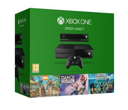 ������� ������� MICROSOFT Xbox One � 500 �� ������, ������ Kinect, ������ Dance Central Spotlight, Kinect Sports Rivals, Zoo Tycoon, 6QZ-00088, ������