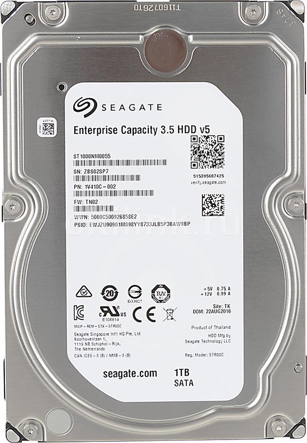 Жесткий диск SEAGATE Enterprise Capacity ST1000NM0055,  1Тб,  HDD,  SATA III,  3.5