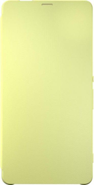 Чехол (флип-кейс) SONY Flip Cover, для Sony Xperia XA Ultra, лайм [scr60 lime gold]