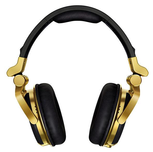 Наушники PIONEER HDJ-1500-N, накладные,  золотистый/черный, проводные