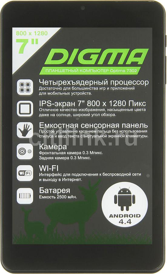 """Планшет Digma Optima 7302 A33 4C/512Mb/8Gb 7"""" IPS 1280x800/And5.1/черный/0.3Mpix/0.3Mpix/2500mA(Б/У)"""