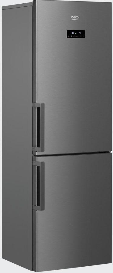 Холодильник BEKO RCNK321E21X,  двухкамерный, нержавеющая сталь