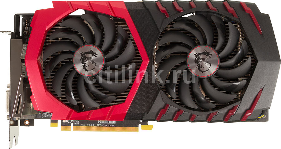 Видеокарта MSI AMD  Radeon RX 480 ,  RX 480 GAMING X 4G,  4Гб, GDDR5, OC,  Ret