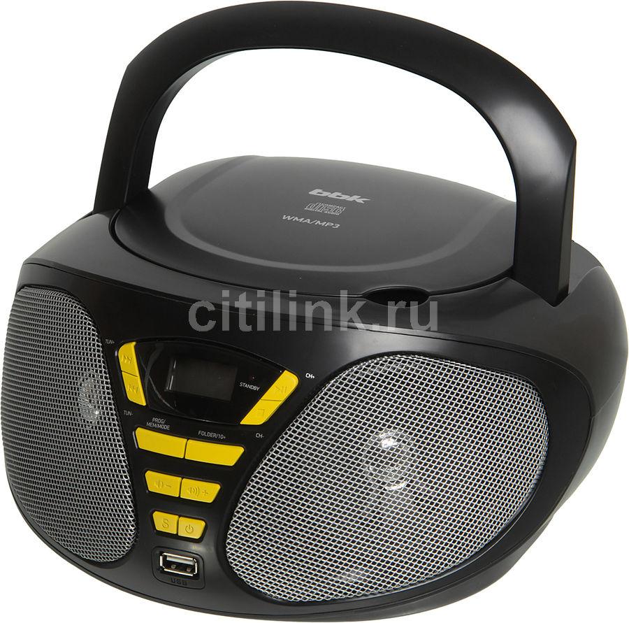 Аудиомагнитола BBK BX180U,  черный и желтый