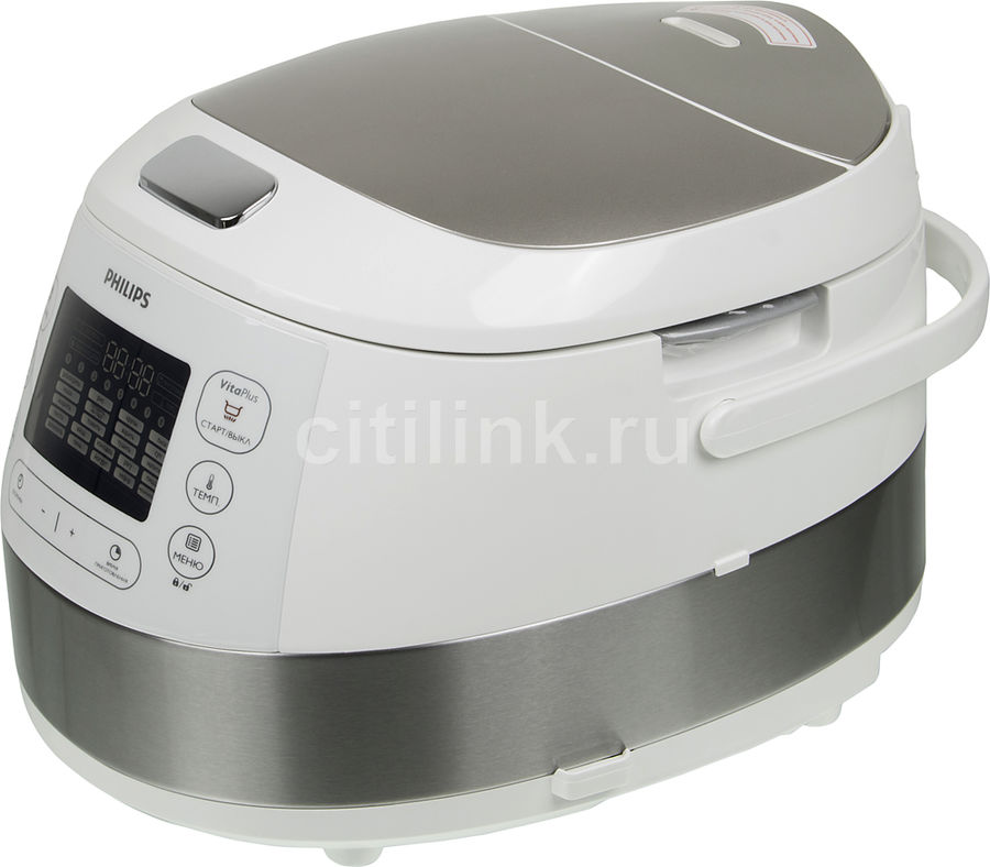 Мультиварка PHILIPS HD4734/03,  980Вт,   белый/серебристый