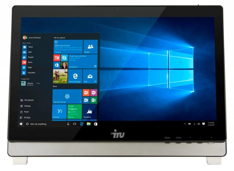 Моноблок IRU Office K2101, Intel Core i3 6100, 4Гб, 500Гб,  530, Intel HD Graphics 530, DVD-RW, noOS, черный [391003]