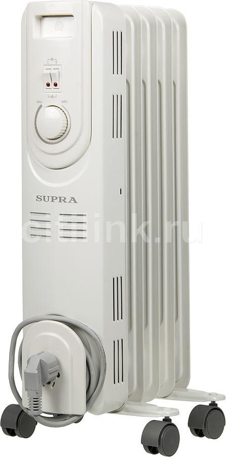 Масляный радиатор SUPRA ORS-05-S2, 1000Вт, белый