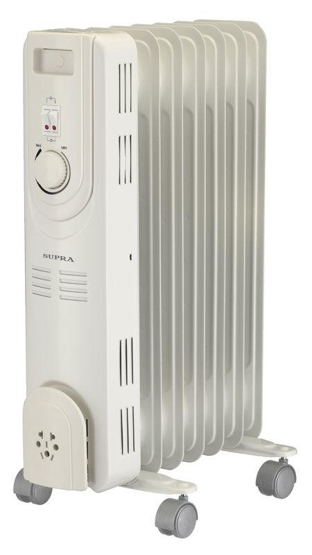 Масляный радиатор SUPRA ORS-07-S2, 1500Вт, белый
