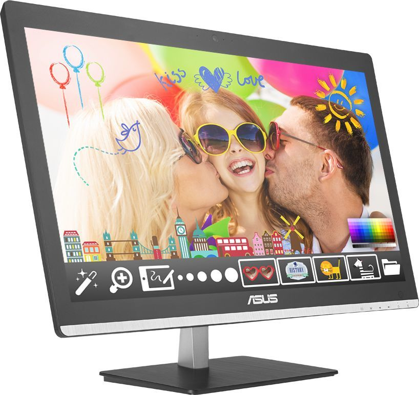 Моноблок ASUS V200IBUK-BC020X, Intel Pentium N3700, 4Гб, 500Гб, Intel HD Graphics, DVD-RW, Windows 10, черный [90pt01j1-m00420]