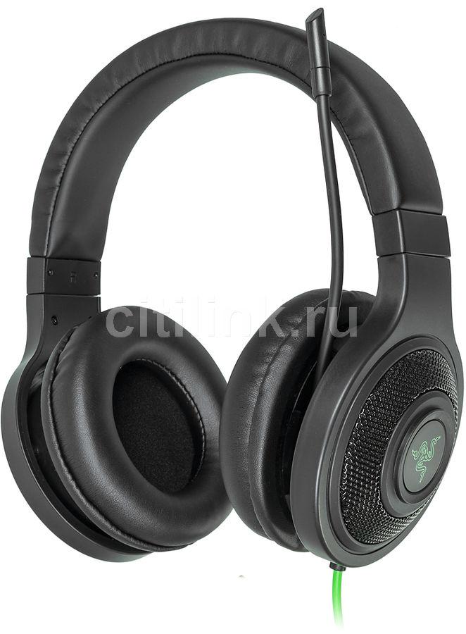 Наушники с микрофоном RAZER Kraken Essential,  мониторы, черный  / зеленый [rz04-01720100-r3r1]
