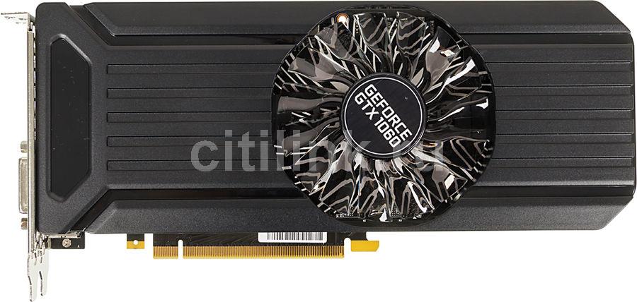 Видеокарта PALIT GeForce GTX 1060,  PA-GTX1060 STORMX 3G,  3Гб, GDDR5, Ret [ne51060015f9-1061f]