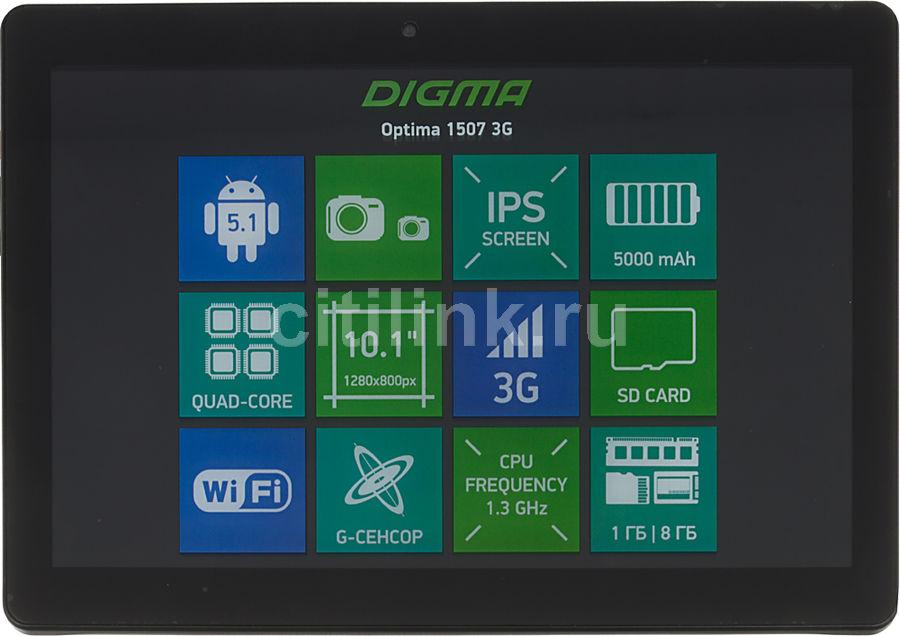 Планшет DIGMA Optima 1507 3G,  1GB, 8GB, 3G,  Android 5.1 черный [ts1085mg]