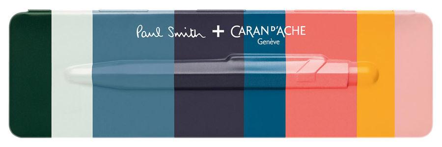 Ручка шариковая Carandache Office Paul Smith 2 (849.071) Rose Pink синие чернила подар.кор.