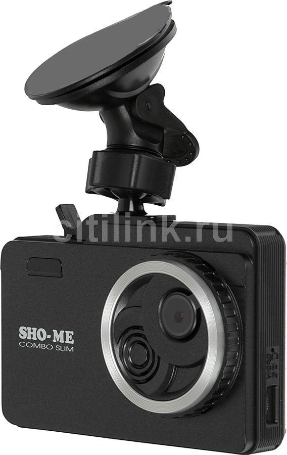 Радар-детектор Sho-Me Combo Slim Видеорегистратор GPS приемник G-сенсор (отремонтированный)