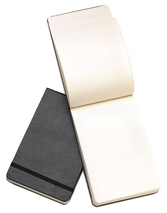 Блокнот Moleskine REPORTER 90x140мм 192стр. нелинованный твердая обложка фиксирующая резинка черный [qp513]