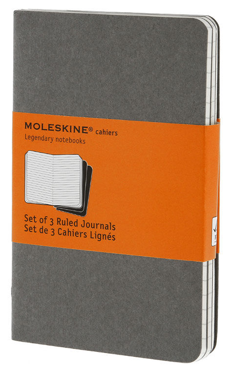Блокнот Moleskine CAHIER JOURNAL POCKET 90x140мм обложка картон 64стр. линейка серый (3шт) [ch311]