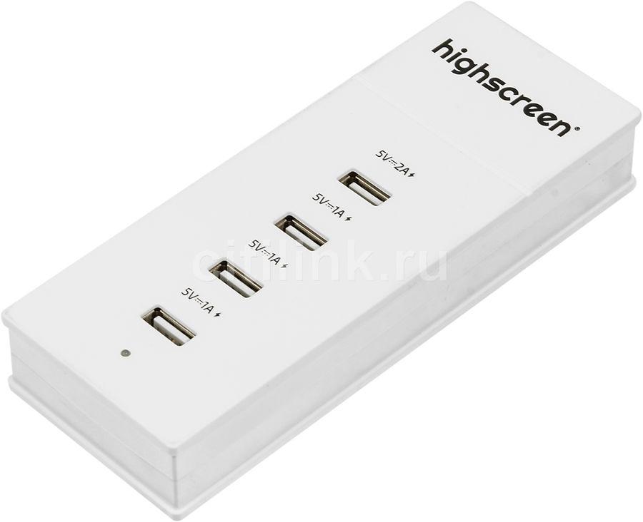 Сетевое зарядное устройство HIGHSCREEN 22418,  2A,  белый