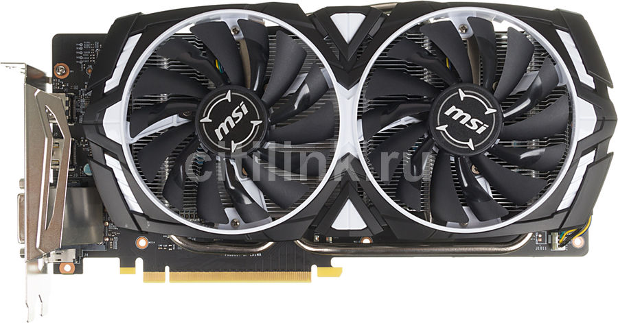 Видеокарта MSI nVidia  GeForce GTX 1060 ,  GeForce GTX 1060 ARMOR 3G OCV1,  3Гб, GDDR5, OC,  Ret