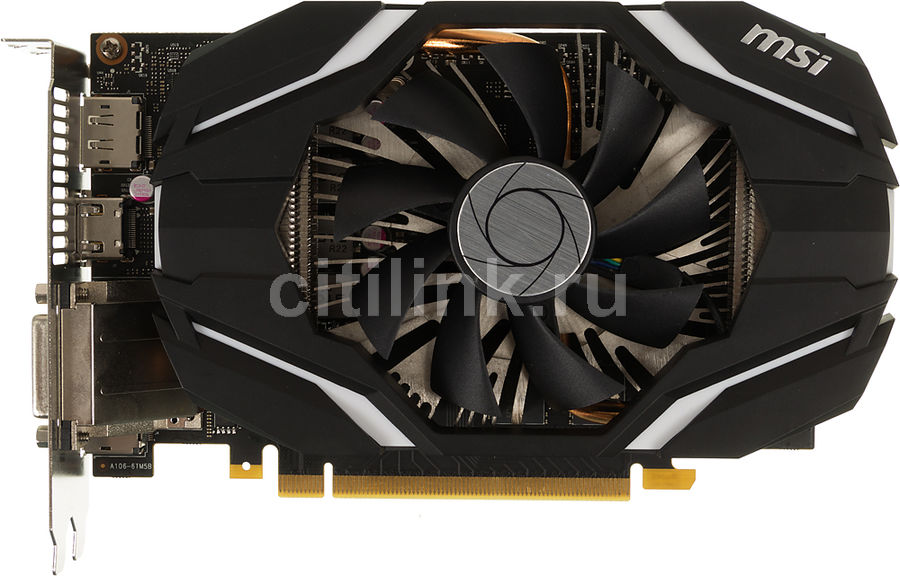 Видеокарта MSI GeForce GTX 1060,  GTX 1060 6G OC,  6Гб, GDDR5, OC,  Ret