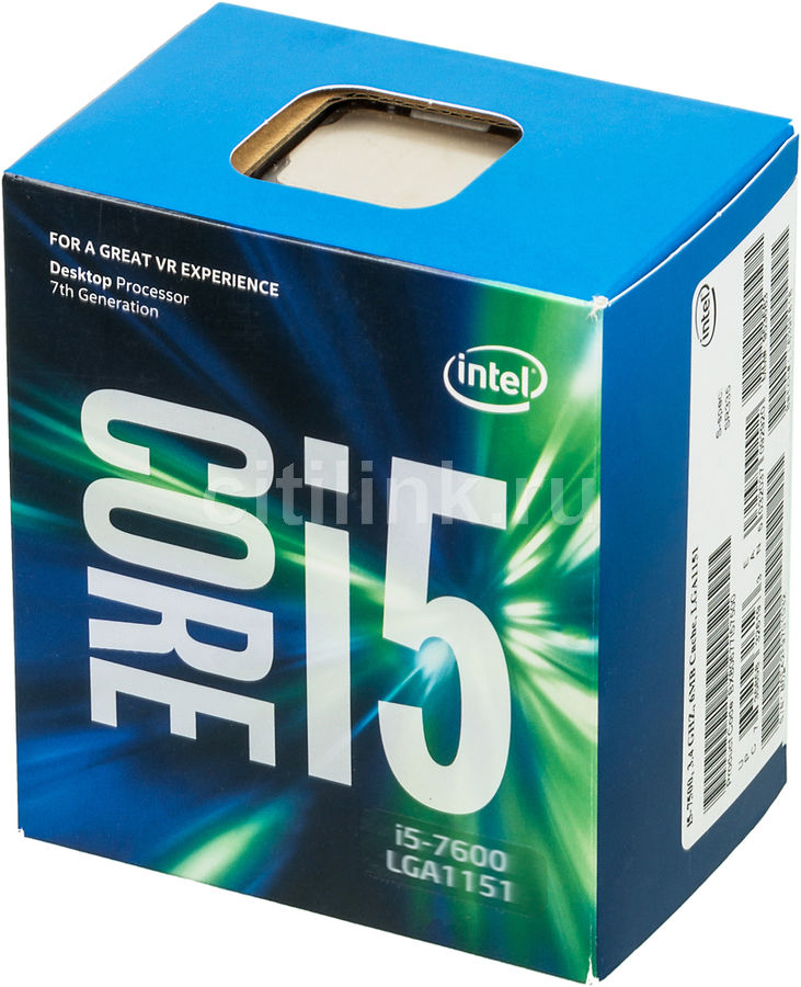 Процессор INTEL Core i5 7600, LGA 1151 BOX [bx80677i57600 s r334]