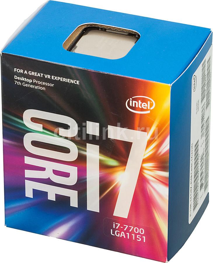 Процессор INTEL Core i7 7700, LGA 1151 ** BOX [bx80677i77700 s r338]