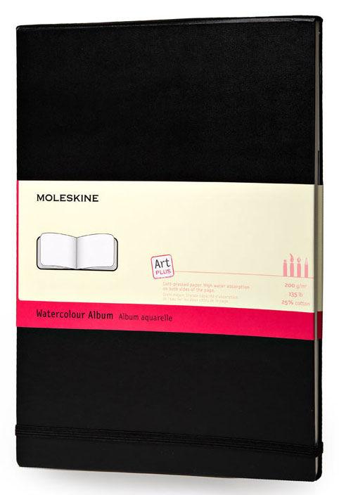 Блокнот для акварели Moleskine CLASSIC WATERCOLOUR NOTEBOOK 90x140мм 60стр. твердая обложка черный [artmm803]