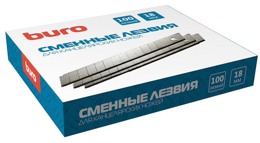 Лезвия для канцелярского ножа Buro 070001106 шир.лез.18мм (упак.:10шт)