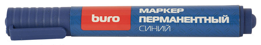 Маркер перманентный Buro 048001105 круглый пиш. наконечник 2мм синий