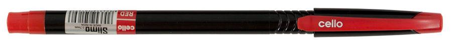 Ручка шариковая Cello SLIMO 0.7мм игловидный пиш. наконечник черный/красный красные чернила коробка