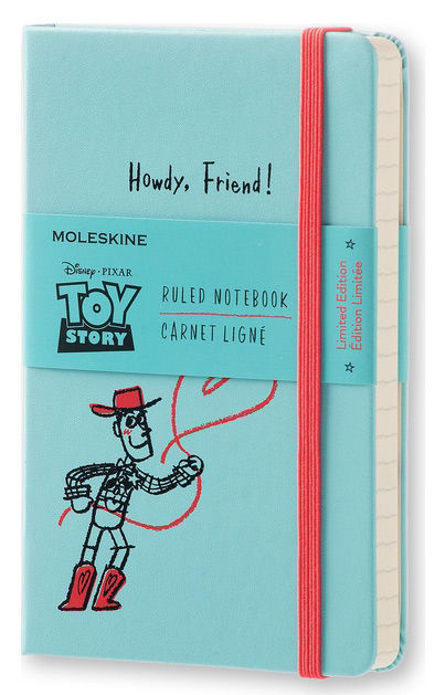 Блокнот Moleskine Limited Edition TOY STORY Pocket 90x140мм 192стр. линейка голубой [letsmm710]