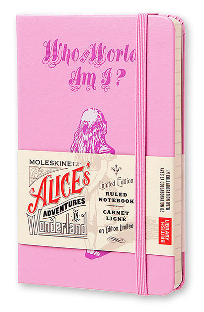 Блокнот Moleskine Limited Edition ALICE IN WONDERLAND Pocket 90x140мм 192стр. линейка розовый [leal01mm710]