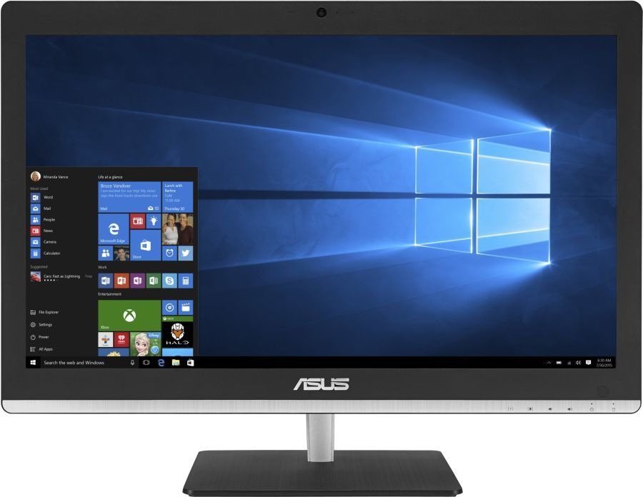 Моноблок ASUS V220IAUK-BA031X, Intel Core i3 5005U, 8Гб, 1000Гб, Intel HD Graphics 5500, DVD-RW, Windows 10, черный [90pt01p1-m00670]