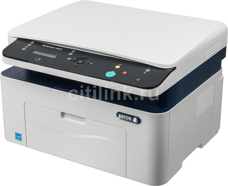 МФУ лазерный XEROX WorkCentre 3025,  A4,  лазерный,  белый [wc3025bi]