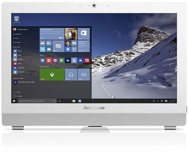 Моноблок LENOVO S200z, Intel Celeron J3060, 2Гб, 500Гб, Intel HD Graphics 400, noOS, белый [10k1000gru]