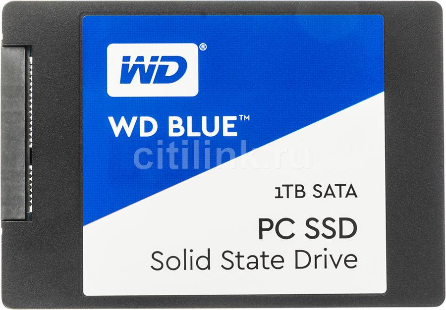 """SSD накопитель WD Blue WDS100T1B0A 1Тб, 2.5"""", SATA III"""