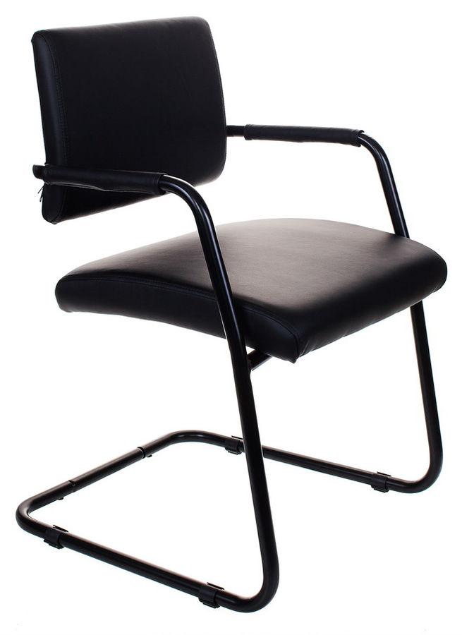 Кресло БЮРОКРАТ CH-271-V, на полозьях, искусственная кожа, черный [ch-271-v/or-16]