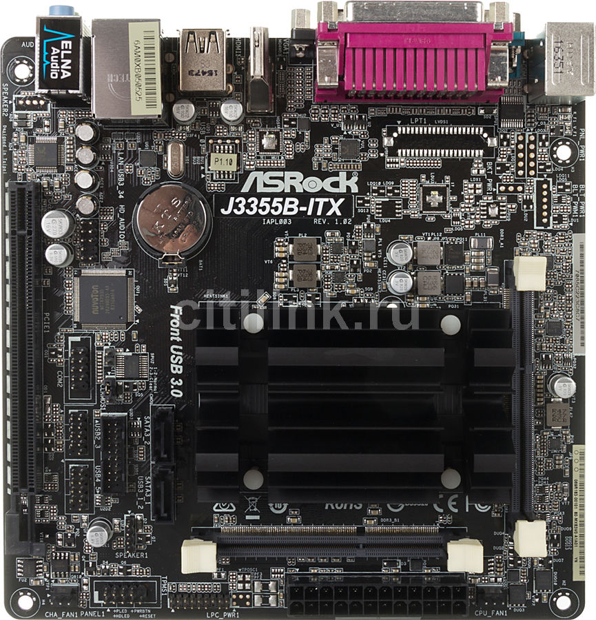 Материнская плата ASROCK J3355B-ITX mini-ITX, Ret