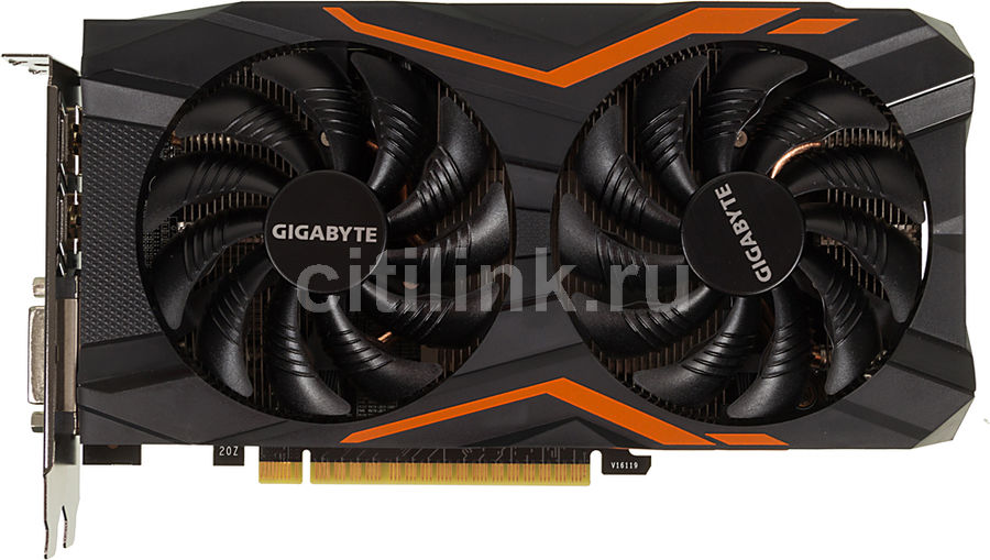 Видеокарта GIGABYTE GeForce GTX 1050,  GV-N1050G1 GAMING-2GD,  2Гб, GDDR5, OC,  Ret