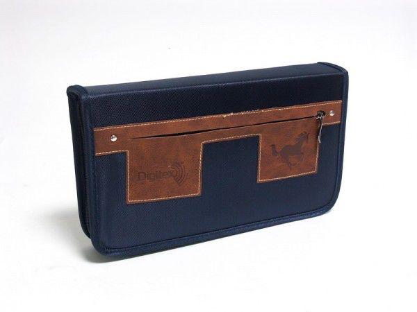Портмоне DIGITEX Highway DCAWH-080-PP, синий+коричневый, для 80 дисков
