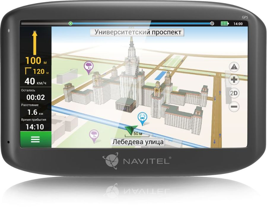 GPS навигатор NAVITEL N400,  серый